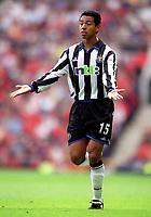 Nolberto Solano (Newcastle United). Manchester United 2:0 Newcastle United, F.A.Carling Premiership, 20/8/2000. Credit Colorsport / Stuart MacFarlane.