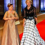 NLD/Amsterdam/20130429- Afscheidsdiner Konining Beatrix Rijksmuseum, Princess Christina en sister Princess Irene van Lippe-Biesterfeld