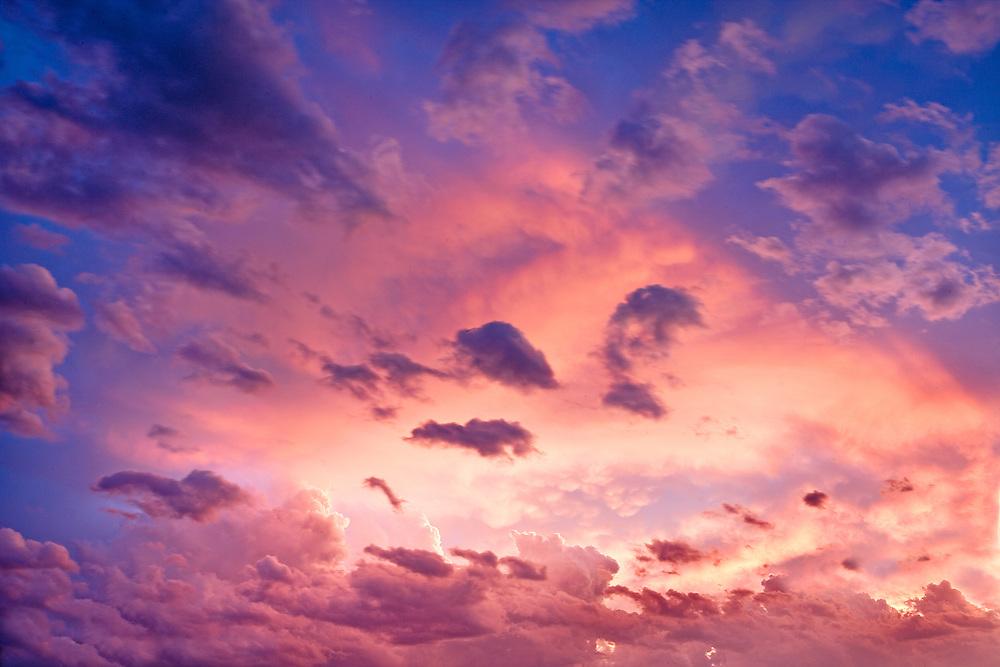 breaking thunderstorm at sunset Spokane Washington USA