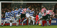 BRENTFORD V QPR <br />PHOTO BY GERARD FARRELL / SPORTSBEAT IMAGES<br />DATE:14/02/2004.<br />BRENTFORD'S KEVIN O' CONNOR SHOOTS AND SCORES
