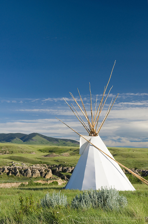 Tepee near visitor's center, Writing on Stone Provincial Park Alberta Canada