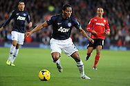 Antonio Valencia of Manchester United charges ahead.<br /> Barclays Premier League match, Cardiff city v Manchester Utd at the Cardiff city stadium in Cardiff, South Wales on Sunday 24th Nov 2013. pic by Phil Rees, Andrew Orchard sports photography,