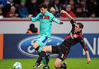 v.l. Cesc Fabregas, Stefan Reinartz (Leverkusen)<br /> Champions League, Achtelfinale Hinspiel, Bayer 04 Leverkusen - FC Barcelona<br /> Norway only