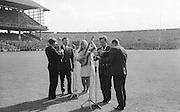 "GAA All Ireland Minor Football Final Sligo v. Cork 22nd September 1968 Croke Park..The ""Charioteers"" (unsure if correct) Brendan O'Duill, Sean Potts provided entertainment before the senior game   ..22.9.1968  22nd September 1968"