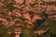 Entrance gate to the Beiyue Hengshan Mountain National Park, Datong, Hunyuan County, Shanxi Province, China