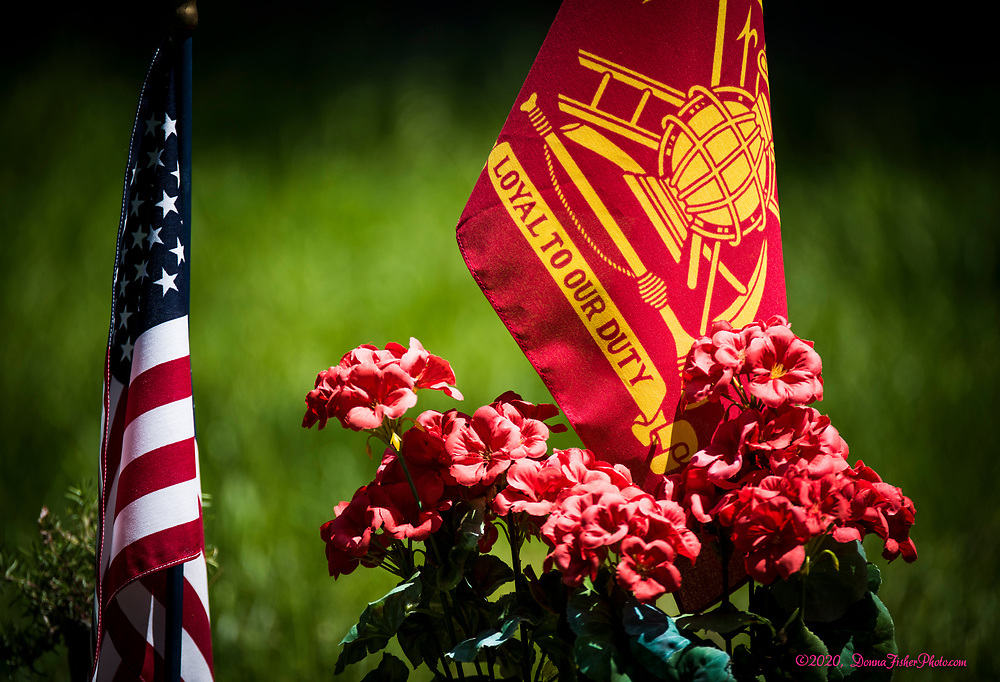 Memorial Day in Arlington Memorial Park, Whitehall, Pa. Monday, May 25, 2020. While many traditional activities were cancelled or modified because of Covid-19 coronavirus residents were outside visiting loved ones where they could, many wearing face masks.<br /> - Photography by Donna Fisher<br /> - ©2020 - Donna Fisher Photography, LLC                      <br /> - donnafisherphoto.com