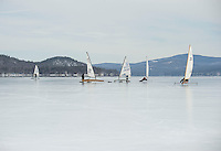 Ice Sailing on Lake Winnipesaukee with the New England Ice Yacht Association.   Karen Bobotas for the Laconia Daily Sun