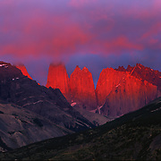 Torres del Paine in Torres del Paine National Park, Patagonia, Chile