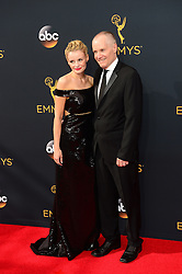 September 18, 2016 - Los Angeles, CA, USA - Rosie Abernethy, left, and Jack Abernethy arrive at the 68th Annual Emmy Awards at the Microsoft Theater in Los Angeles, California on Sunday, September 18, 2016. (Credit Image: © Michael Owen Baker/Los Angeles Daily News via ZUMA Wire)