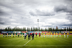 Teams prioro to the football match between NK Domzale and NK Aluminij in 36th Round of Prva liga Telekom Slovenije 2020/21, on May 22, 2021 in Sportni park Domzale, Slovenia. Photo by Vid Ponikvar / Sportida