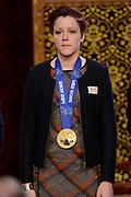 Officiele Huldiging van de Olympische medaillewinnaars Sochi 2014 / Official Ceremony of the Sochi 2014 Olympic medalists.<br /> <br /> Op de foto: Jorien ter Mors