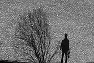 France. Paris. 18th district.  pedestrians shadows view from above / ombres des passants et des touristes vu d'en haut