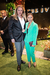 © Licensed to London News Pictures . 23/11/2018. Manchester , UK . Hayley Tamaddon (r) arrives at an opening event of The Ivy restaurant and bar venue in Spinningfields in Manchester City Centre . Photo credit : Joel Goodman/LNP