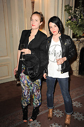Left to right, POLLY MORGAN and SUE WEBSTER at a dinner hosted by Vogue in honour of photographer David Bailey at Claridge's, Brook Street, London on 11th May 2010.