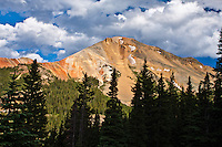 10,875 ft. Red Mountain # 3 in the San Juan Mountains along the Milliondollar HWY, Colorado.