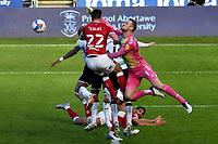 Football - 2020 / 2021 Sky Bet Championship - Swansea City vs Bristol City - Liberty Stadium<br /> <br /> Daniel Bentley Bristol City punches the ball clear<br /> <br /> <br /> COLORSPORT/WINSTON BYNORTH