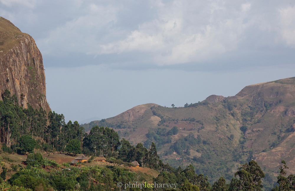 Countryside around Mount Oku in north western Cameroon