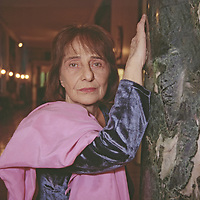 Goliarda Sapienza, writer and actress of Sicilian origin, wife of film director Citto Maselli, in Rome<br /> 1994<br /> <br /> Photograph by Rino Bianchi/Writer Pictures<br /> <br /> WORLD RIGHTS - NO ITALY