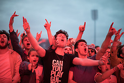 © Licensed to London News Pictures . 27/05/2017 . Manchester , UK . Crowd during the Courteeners' set . Manchester music line up , featuring Courteeners , Charlatans , Blossoms and Cabbage , at the Emirates Old Trafford Stadium . Photo credit : Joel Goodman/LNP