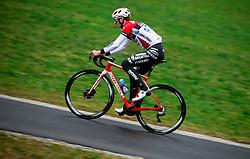 Portrait of Ziga Jerman, Slovenian rider at professional cycling team Androni Giocattoli - Sidermec, on February 5, 2021 in Polhov Gradec, Slovenia. Photo by Vid Ponikvar / Sportida