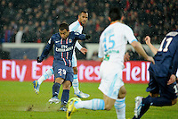 FOOTBALL - FRENCH CHAMPIONSHIP 2012/2013 - L1 - PARIS SAINT GERMAIN v OLYMPIQUE MARSEILLE - 24/02/2013 - PHOTO JEAN MARIE HERVIO / REGAMEDIA / DPPI - GOAL LUCAS MOURA (PSG)
