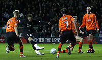 Photo: Paul Thomas/Sportsbeat Images.<br /> Hibernian v Dundee United. Clydesdale Bank Premier League. 24/11/2007.<br /> <br /> Abdessalam Benjelloun (2nd L) of Hibs scores.