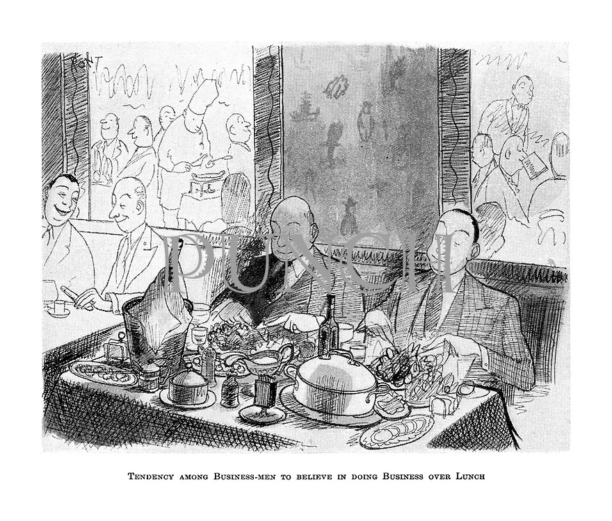 Tendency among Business-men to Believe in doing Business over Lunch