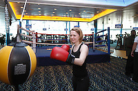Royal Caribbean International's  Independence of the Seas, the world's largest cruise ship...Fitness centre boxing ring.