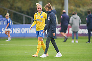 Brighton & Hove Albion defender Danique Kerkdijk (5) during the FA Women's Super League match between Everton Women and Brighton and Hove Albion Women at the Select Security Stadium, Halton, United Kingdom on 18 October 2020.