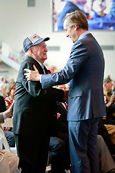 06 June 2014. The National WWII Museum, New Orleans, Lousiana. <br /> WWII veteran James Holdcraft, Electrician 2nd Class, US Navy is honored with the French Legion of Honor medal by French Consul General, Claude Brunet.<br /> Photo; Charlie Varley/varleypix.com