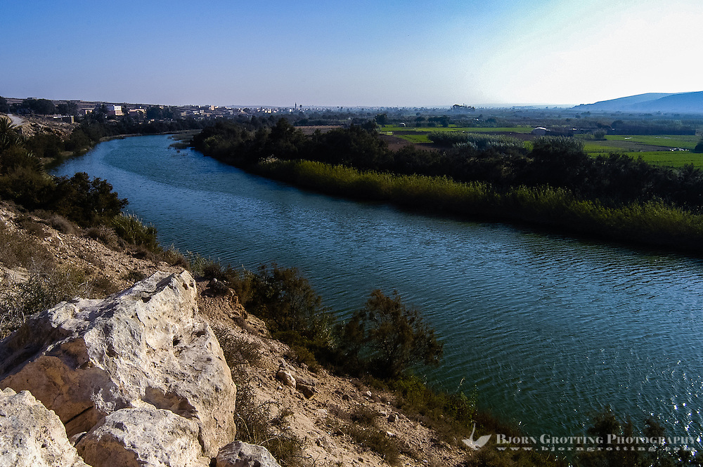 The Oued Massa River. The Souss-Massa National Park on the Atlantic coast of Morocco was established in 1991.