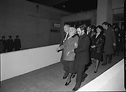 Irish Soldiers Bodies Returned From Lebanon. (R99)..1989..24.03.1989..03.24.1989..24th March 1989..While serving on the peacekeeping mission with the UN three Irish soldiers lost their lives when the vehicle they were in struck a land mine. The mine had ben planted by a Hezbollah Group who were targeting the Israeli military. The Soldiers; Corp Fintan Heneghan, Pte Mannix Armstrong and Pte Thomas Walshe were serving with C Company, 64th Infantry Batallion in Brashit, Sth Lebanon...Image shows the grieving family members of the deceased troops leaving the mortuary in Dublin Airport for departure to Arbour Hill Church.