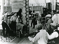 1926 Ernest Torrence (left) filming Mantrap at Famous Players Lasky Studio