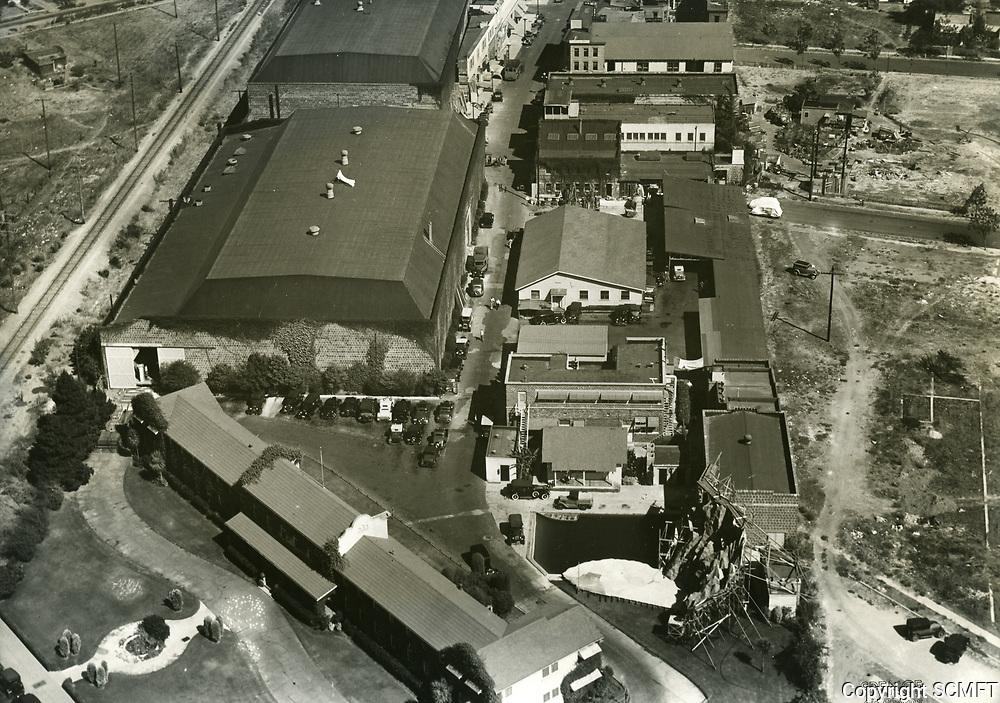1934 Aerial of Hal Roach Studios in Culver City