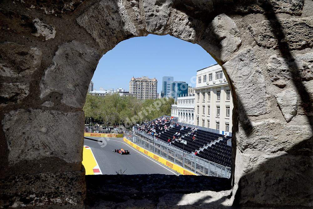 Max Verstappen (Red Bull-Honda) during practice before the 2019 Azerbaijan Grand Prix in Baku. Photo: Grand Prix Photo