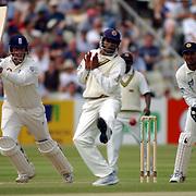 England's Marcus Trescothick put the ball through the slips on his way to his tonne against Sri Lanka's