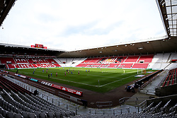 A general view of The Stadium of Light, during the behind closed doors Sky Bet League One fixture between Sunderland and Bristol Rovers due to the Covid-19 pandemic - Mandatory by-line: Robbie Stephenson/JMP - 12/09/2020 - FOOTBALL - Stadium of Light - Sunderland, England - Sunderland v Bristol Rovers - Sky Bet League One