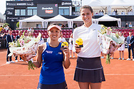 Misaki Doi and Natalia Vikhlyantseva during the 2019 Swedish Open in Båstad on July 13, 2019. Photo Credit: Katja Boll/EVENTMEDIA.