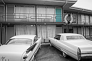 The door where Martin Luther King was assassinated at the Lorraine Motel in Memphis, Tennessee.