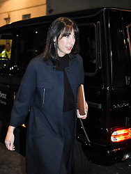 © Licensed to London News Pictures. 20/02/2017. London, UK. Samantha Cameron, wife of former British prime minister David Cameron, arrives to watch the Burberry show at London Fashion Week SS17 on February 20, 2017. Photo credit: Pietro Recchia/LNP
