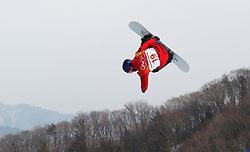 Great Britain's Rowan Coultas during qualification for Men's Snowboard Slopestyle the PyeongChang 2018 Winter Olympic Games in South Korea.