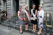 Sorcha Holmes, limerick, Shauna Coyne, Westmeath, Caroline Callaghan, Newbridge, Hannah Ryan, Kildare, at the Hotel Meyrick Most Stylish Lady event on ladies day of The Galway Races. Photo:Andrew Downes