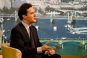 Shadow Chancellor George Osborne MP appearing on the BBCs Andrew Marr show on 31 January 2010 in London, United Kingdom.