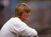 Bled, Slovenia, YUGOSLAVIA.  DDR W8+, Ute WAGNER - WILD,  1989 World Rowing Championships, Lake Bled. [Mandatory Credit. Peter Spurrier/Intersport Images]