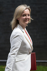 Downing Street, London, June 14th 2016. Environment Food and Rural Affairs Secretary Elizabeth Truss leaves  10 Downing Street after attending the weekly cabinet meeting.