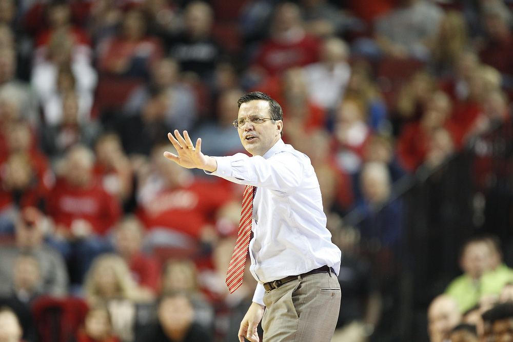 Tim Miles during Nebraska's 81-76 win over Southern at Pinnacle Bank Arena in Lincoln, Neb. on Dec. 20, 2016. Photo by Aaron Babcock, Hail Varsity