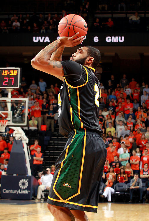 CHARLOTTESVILLE, VA- DECEMBER 6: Ryan Pearson #24 of the George Mason Patriots shoots the ball during the game on December 6, 2011 against the Virginia Cavaliers at the John Paul Jones Arena in Charlottesville, Virginia. Virginia defeated George Mason 68-48. (Photo by Andrew Shurtleff/Getty Images) *** Local Caption *** Ryan Pearson