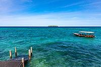deck indian ocean seascape  in Unguja aka Zanzibar Island Tanzania East Africa