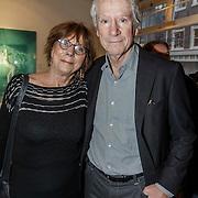 """NLD/Amsterdam/20150110 - Expositie opening Micky Hoogendijk """"The Other Side of Fear is Freedom"""", Gerrit-Jan Wolfensperger en partner Adri de Vries"""