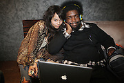 l to r: Zoe Kravitz and Quest?love at The ROOTS Present the Jam produced by Jill Newman Productions held at Highline Ballroom on April 29, 2009 in New York City